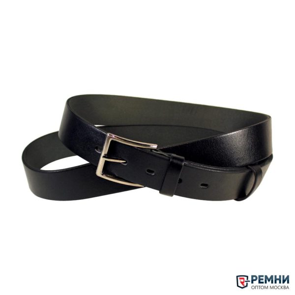 Mr. Belt 35 мм, черный, гладкий