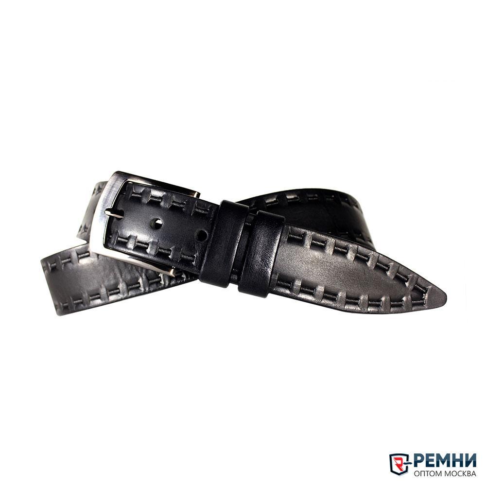 Belt Premium 40 мм, черный, рисунок