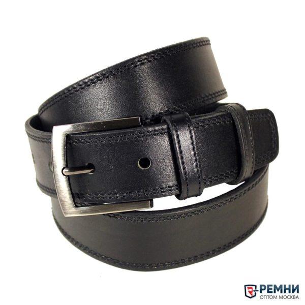 Ремень Belt Premium 40мм черный, строчка