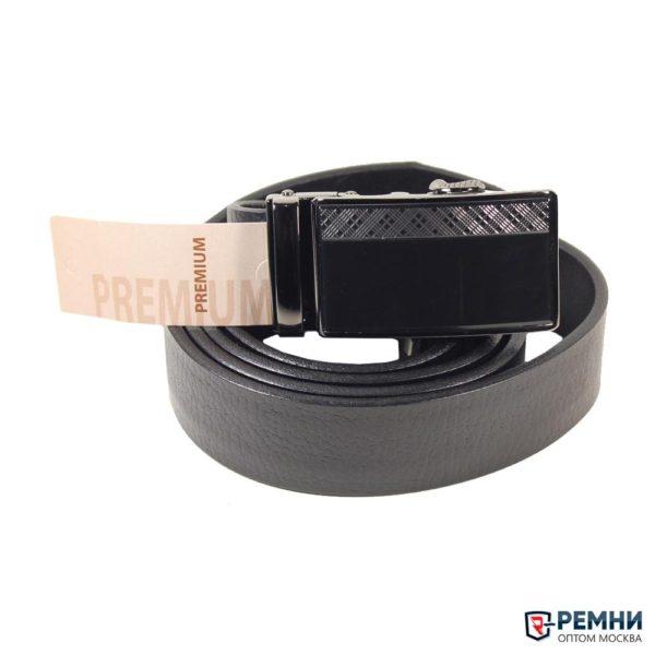 Belt Premium 35 мм, черный, гладкий, автомат