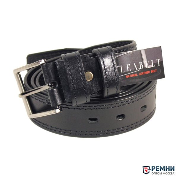 LeaBelt 40 мм, черный, две строчки от 320 руб НОВЫЙ