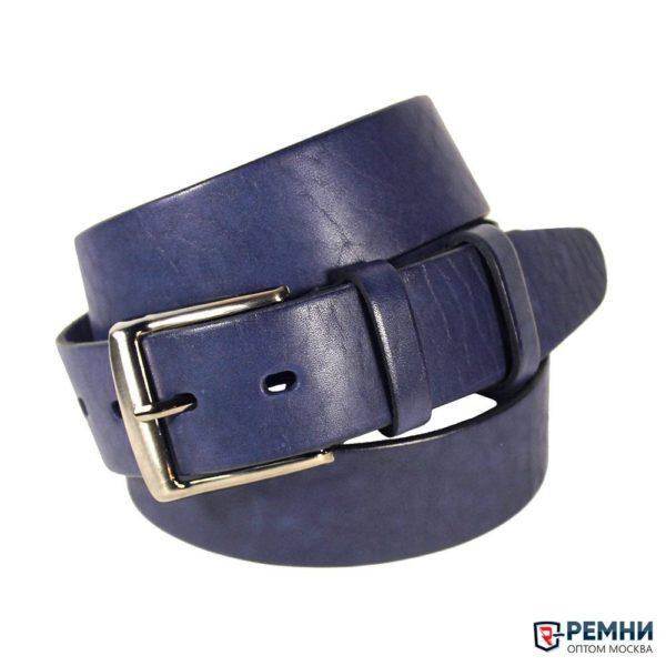Belt Premium 40 мм, синий, гладкий